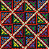 Knitted multicolour geometric seamless motley pattern