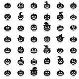 Halloween pumpkin 42 icons set