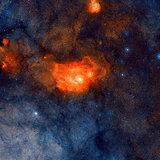 Area around the Lagoon Nebula.