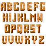 Light Alphabet . Glass Bulb Letters.