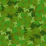 Camouflage Seamless Background. Woodland Style.