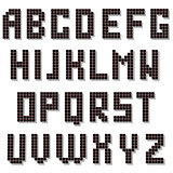 Pixel Alphabet Isolated. Digital Font