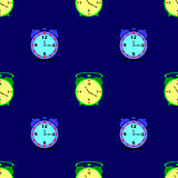 Alarm Clock Seamless Pattern