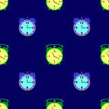 Alarm Clock Seamless Pattern