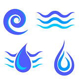 Set of Water Icons Isolated