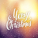 Merry Christmas Hand Lettering Greeting Card