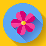 Frangipani flower icon. Nature symbol - Vector