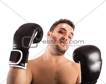 Beaten boxer