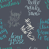Seamless vector lettering pattern
