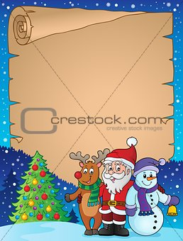 Christmas characters theme parchment 1