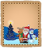 Christmas characters theme parchment 2