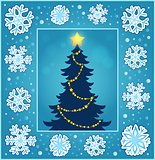 Christmas composition greeting card 2
