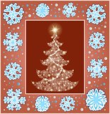 Christmas composition greeting card 3