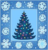 Christmas composition greeting card 4