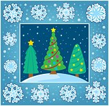 Christmas composition greeting card 6
