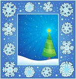 Christmas subject greeting card 1