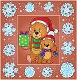 Christmas thematics greeting card 2