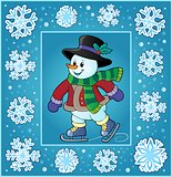 Christmas thematics greeting card 4