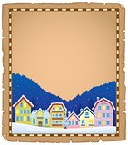 Parchment with Christmas town theme 1