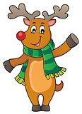 Stylized Christmas deer theme image 1