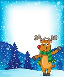 Stylized Christmas deer theme image 2