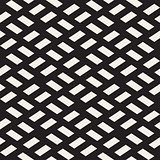 Vector Seamless Black and White Rhombus Grid Rectangles Pavement Geometric Pattern