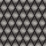 Vector Seamless Black and White Rhombus Shape Scribble Line Pattern