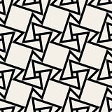 Vector Seamless Black and White Geometric Square Tile Pattern