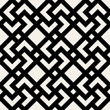 Vector Seamless Black and White Geometric Rhombus Cross Square Tile Pattern