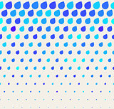Vector Seamless Blue Rain Drops Shape Pattern