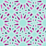 Vector Seamless Geometric Tiling Pattern in Teal and Pink
