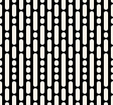 Vector Seamless Black And White Dashed Parallel Vertical Lines and Dots Pattern