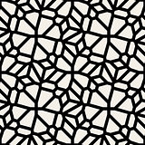 Vector Seamless Black And White Floral Lace Line Tiling Pattern