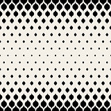 Vector Seamless Black  White Leaf Shape Halftone Pattern
