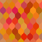 Vector Seamless Leaf Shape Pattern Collection In Warm Orange Pink Yellow Random Color Palette