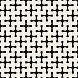 Vector Seamless Geometric Simple Rounded Plus Cross Shape Pattern