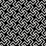 Vector Seamless Black And White Abstract Geometric Cross Tiling Line Pattern