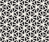 Vector Seamless Black And White Hexagonal Triangles Pattern