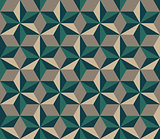 Vector Seamless  Hexagonal Triangles Rhombus Pattern