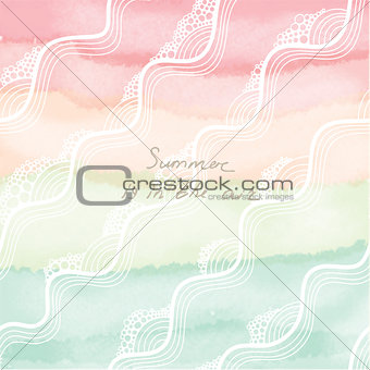 Abstract vector hand-drawn watercolor background.