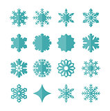 Vector set snowflakes