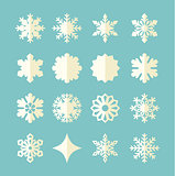 Vector Snowflake winter set