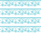 Vector seamless pattern snowflakes