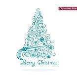 Vector elegance Christmas tree