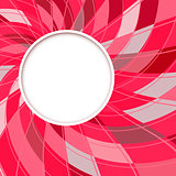 Abstract white round shape, digital red background