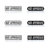 A set of stamps not approved, vector illustration.
