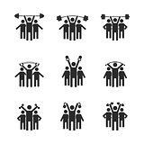 People icons, vector illustration.