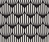 Vector Seamless Black And White Lines Lattice Pattern