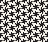 Vector Seamless Black and White Triangular Lattice Pattern