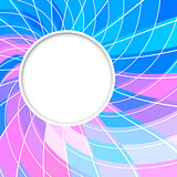 Abstract vector background. Round frame.